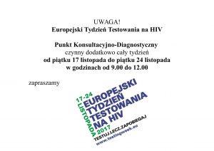 europejski tydzień testowania HIV